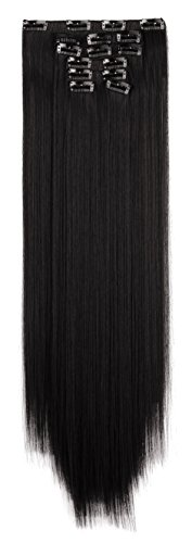OneDor-24-Straight-Full-Head-Clip-in-Synthetic-Hair-Extensions-7pcs-140g