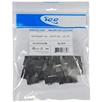 MODULE, COUPLER, CAT 5e 25 PK, BLACK