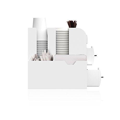 Mind Reader Coffee Condiment Organizer- White, by Mind Reader (Image #2)