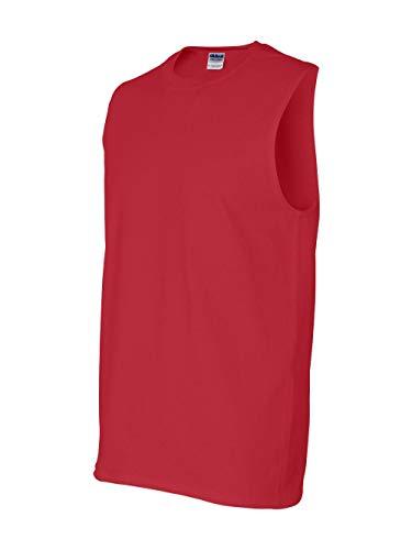 - Gildan Mens 6.1 oz. Ultra Cotton Sleeveless T-Shirt G270 -RED XL