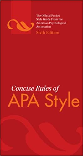 Concise rules of apa style sixth edition concise rules of the concise rules of apa style sixth edition concise rules of the american psychological association apa style 6 spi edition kindle edition ccuart Images