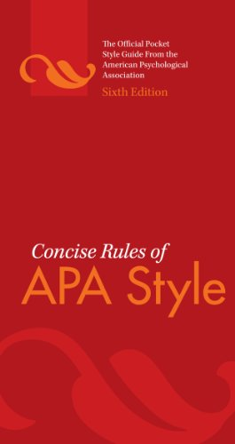 Concise Rules of APA Style, Sixth Edition (Concise Rules of the American Psychological Association (APA) Style) (The Language Of Medicine 8th Edition Ebook)