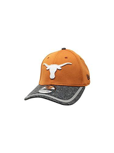 - Texas Longhorns New Era 39Thirty Flex Fit Hat NCAA Curve Brim Caps 3930 (Medium/Large, Burnt Org/Grey Training)
