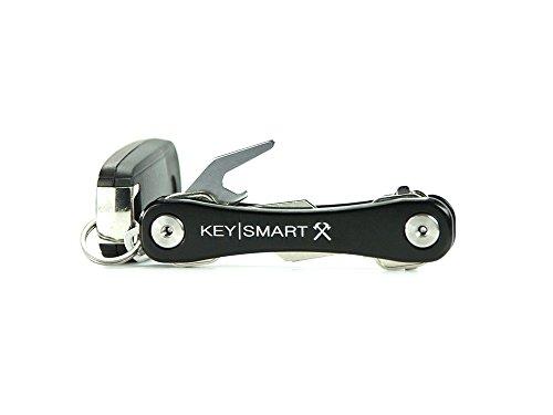 KeySmart Rugged Key Holder | Multi-Tool Style Compact Key Chain and Key Organizer - Black