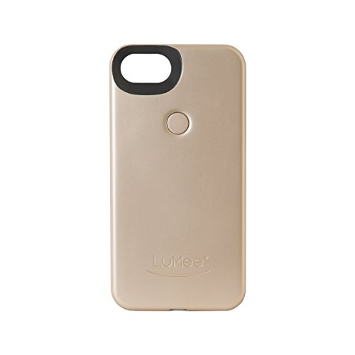 LuMee Two for iPhone 8/7/6s/6, The Original and AuthenticPatentProtected Selfie Case - Gold Matte by LuMee (Image #1)
