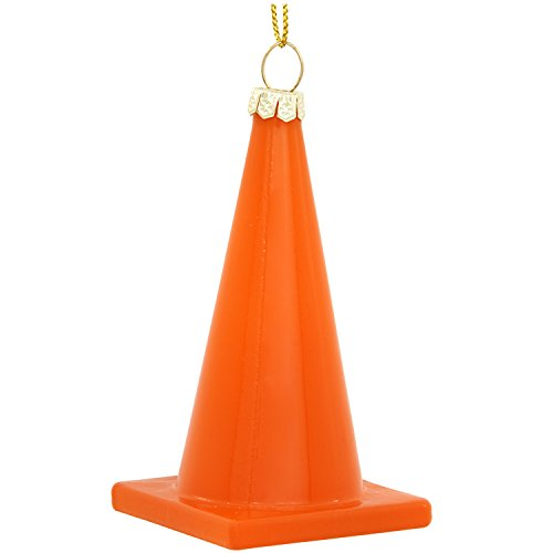 Construction Worker Christmas Ornament   Construction Cone Ornament   Orange Cone Christmas Tree Ornamenyt   Caltrans Christmas Ornament