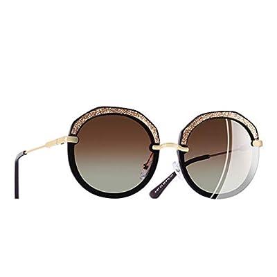 New Fashion Round Sunglasses Shining Frame Polarized Sunglasses Women Goggles UV400 A127