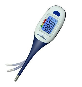 Easy@Home Clinical Digital Thermometer for Oral, Rectal or Axillary Underarm Body Temperature Measurement with backlit LCD display, waterproof flexible tip,test completion&fever Alarm-EMT-026