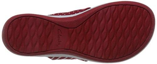 Womens Clarks Glison Print Textile Arla Red Sandals SqOqcFvf