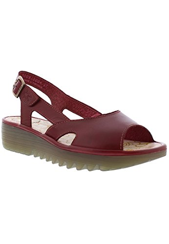Fly London Womens Elfe848fly Wedge Sandal Röd Colmar