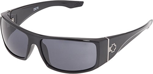 Spy Optic Cooper Wrap Sunglasses, Black Gloss Frame/Grey Lens, One - Spy Glasses Optic