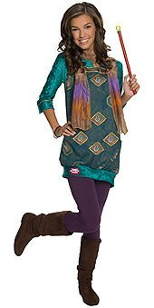 Alex Wizards Of Waverly Place Costumes (Wizards of Waverly Place Alex Paisley Dress Kids Costume - Small)