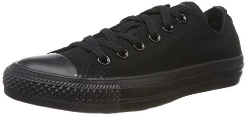 Converse Unisex Chuck Taylor All Star Low Top Black Monochrome Sneakers - 11.5 B(M) US Women / 9.5 D(M) US Men (Best Converse For Guys)
