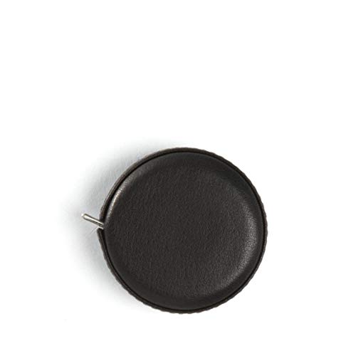 Small Measuring Tape - Full Grain Leather - Black Onyx ()