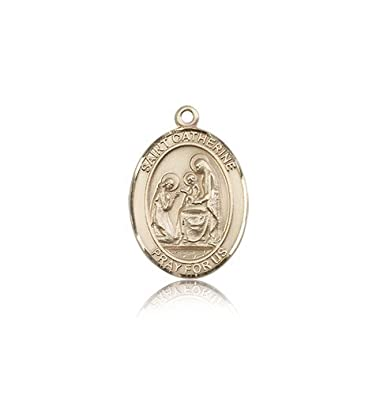 Amazon 14k Gold St Catherine Of Siena Medal Pendants Jewelry
