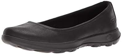 Skechers GO WALK LITE - GEM Women's  Walking Shoe, Black/Black, 5 US