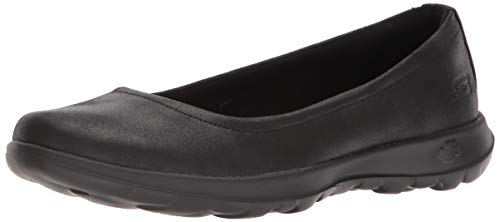 Skechers Performance Women's Go Walk Lite-15395 Ballet Flat, black, 10 M US
