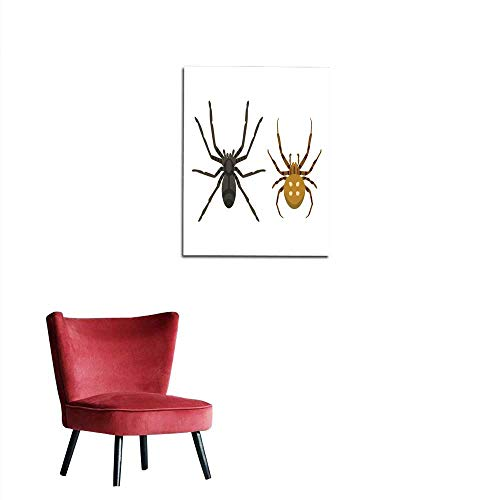 longbuyer Photo Wall Paper Spider Silhouette Arachnid Fear Graphic Flat Scary Animal Poisonous Design Nature Phobia Insect Danger Horror Tarantula Halloween Vector icon Mural 16