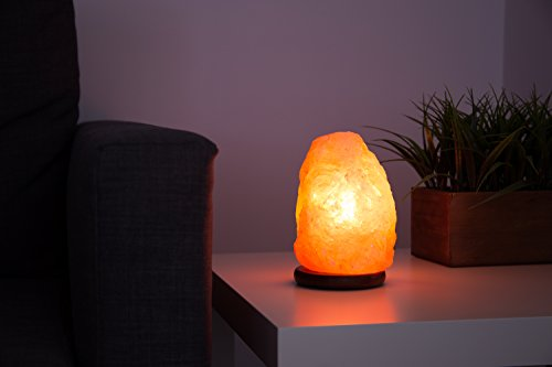 Ambient Salt Lamp Authentic Himalayan Lamp 7-9'' 7-9 lbs Hand Crafted Natural Crystal Salt Rock with UL Listed and Certified Dimmer Switch by Ambient Salt Lamp (Image #3)