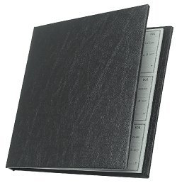 (EGP Executive Checkminder Checks Cover, Black, Size: 9 1/2 x 9