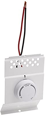 Cadet BTF1W White Single Pole Built In Baseboard Thermostat