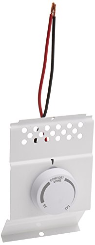 Cadet 8732 White Single Pole Built In Baseboard Thermostat,