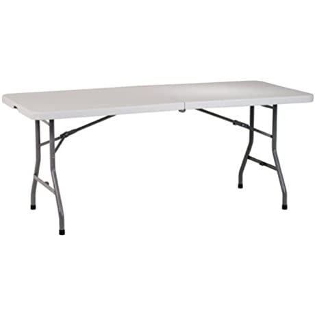 XtremepowerUS 72in X 30in X 31in H Rectangle Multi Purpose Center Fold In Half Folding Table