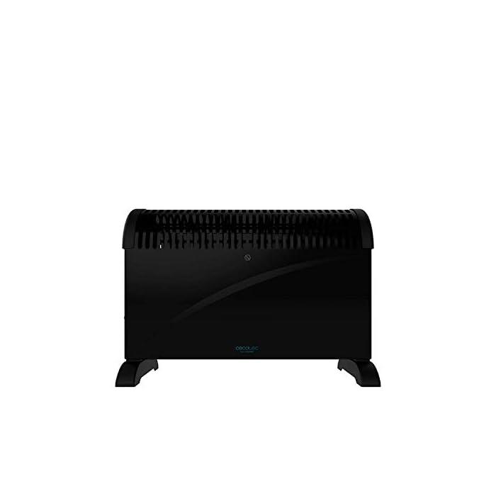 31ew4X5gYnL Convector con gran potencía de 2000 w; adecuado para cada situación, cuenta con verticaldesign, que dota al producto de gran estabilidad, ligereza, tamaño reducido y buena manejabilidad Termostato regulable con tres niveles de potencía : eco (750 w), media (1250 w) y máxima (2000 w) Su tecnología onlysilence permite que puedas disfrutar de un ambiente agradable con el máximo silencio y confort; protección contra sobrecalentamiento overprotect system y sistema autooff en el que cuando se sobrecalienta se detiene automáticamente para evitar daños tanto en el propio calefactor como en la estancia