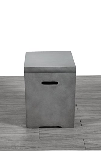 Century Modern Outdoor Fire Pit Storage Tank Table For Sale