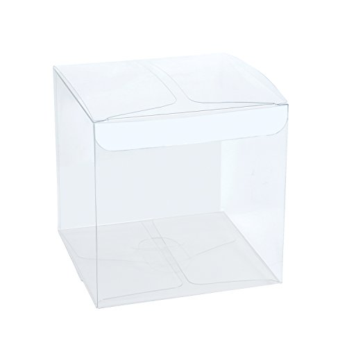 "LaRibbons 30Pcs PET Transparent Boxes / Clear Gift Boxes for Wedding, Party and Baby Shower Favors, 3""L x 3""W x 3""H"