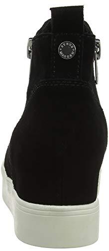 Suede Wedgie Baskets Madden Sneaker Noir 015 Steve Femme Hautes black F8Wn5qqx