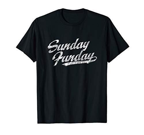 Sunday Funday T-Shirt Vintage Fun Day Sports Design - Day T-shirt Fun Sunday