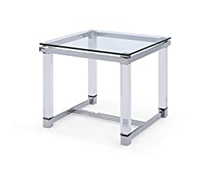 Whiteline Exclusive Brianna Clear Side Table