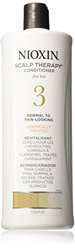 Nioxin Scalp Therapy,Conditioner, System 3 (Fine/Treated/Normal to Thin-Looking), 33.8 Ounce