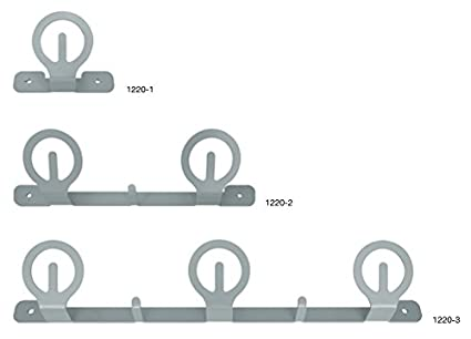 Perchero de pared 1 - 2-3 Plazas de metal lacado gris ...