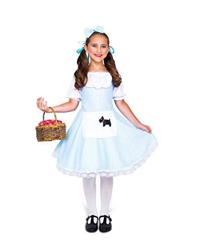 Girl's Storybook Dorothy Costume, for Halloween Party Accessory, Extra Large
