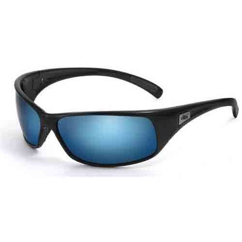 Bolle Recoil Sunglasses, Shiny Black with P Blue - Bolle Lenses Sunglasses