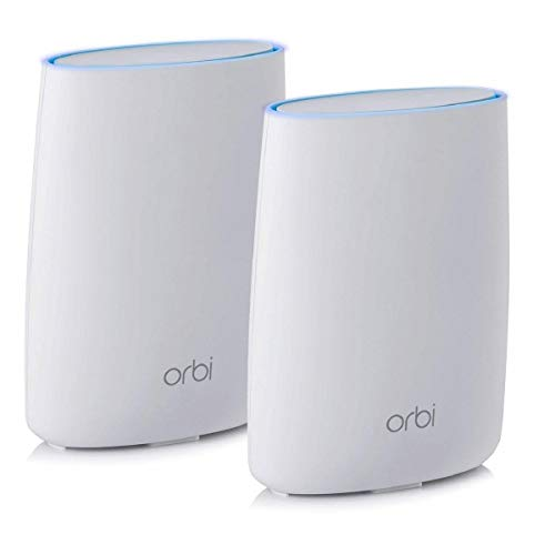 NETGEAR Orbi Ultra-Performance Whole Home Mesh WiFi System - WiFi router and single satellite extender with speeds up to 3Gbps over 5,000 sq. feet, AC3000 (RBK50)