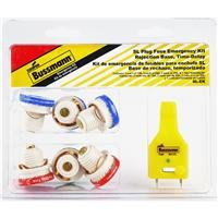 Bussmann SL-EK SL Fuse Assortment Contains 3 Ea. SL-15, 2 Ea. SL-20 And 1 Ea. SL-30 And 1 Fuse Tester, 6-Pack plus Tester