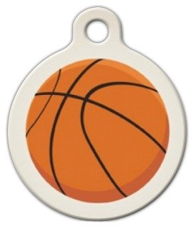 - Basketball Pet ID Tag for Dogs and Cats - Dog Tag Art - LARGE SIZE