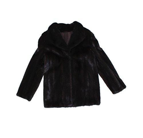 Bergama 710759 New Natural Mahogany Brown Mink Fur Jacket Coat Stroller (Mahogany Mink Fur Coat Jacket)