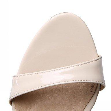 LvYuan Mujer-Tacón Stiletto-Confort Innovador-Sandalias-Oficina y Trabajo Informal Fiesta y Noche-Sintético Semicuero PU-Negro Almendra almond