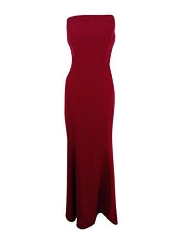 JILL JILL STUART Women's Harlow Strapless Hourglass Gown Currant Dress - Glasses Stuart Jill