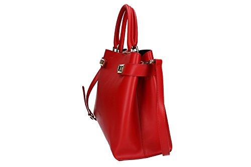 Tasche damen mit schultergurt PIERRE CARDIN rot leder Made in Italy VN1008 aaLTAjyhh8
