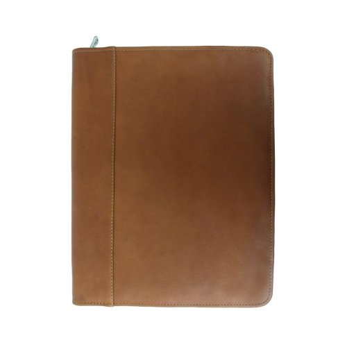 Piel Leather Zippered Padfolio Saddle, Bags Central