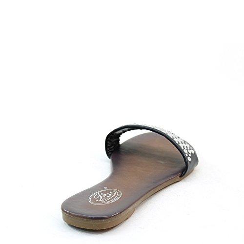 Sandali Con Cinturino Con Cinturino Nuovi Di Zecca Firmati Neri