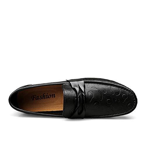 Shoes Shoes Nero Driving Nere ByBetty Leather Casual Men's da Scarpe Fashion Barca qAwnE7S