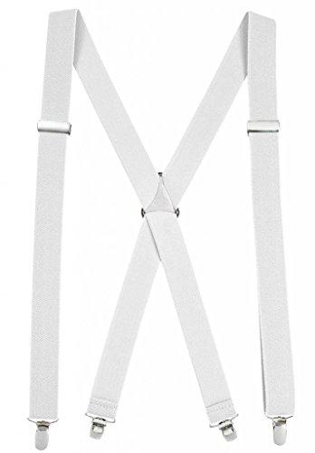 Hold'Em Suspender for Men Made in USA X-Back - White (Regular 46