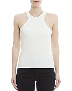 Theory Women's H0127503C63 White Polyamide Tank Top