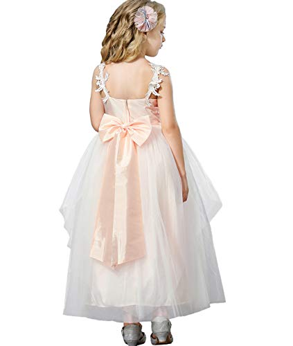 Blush Colored Flower Girl Dresses (Funtrees Little Girls' Berry Petal Occasian Tulle Dress Set Size 10-11)